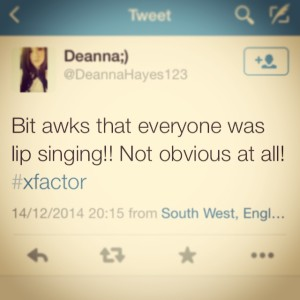 Lip singing!