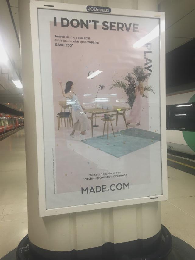 Made.com Tube Advert